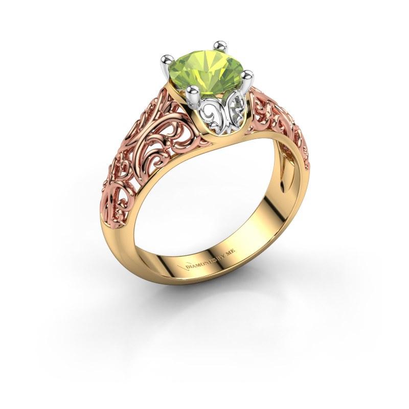 Ring Mirte 585 goud peridoot 6.5 mm