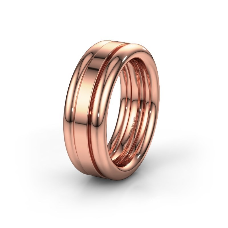Friendship ring WH6018M 585 rose gold ±8x2.8 mm
