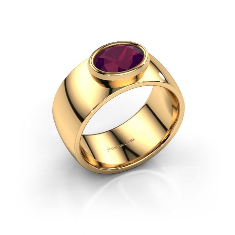 Ring Wilma 1 585 goud rhodoliet 8x6 mm