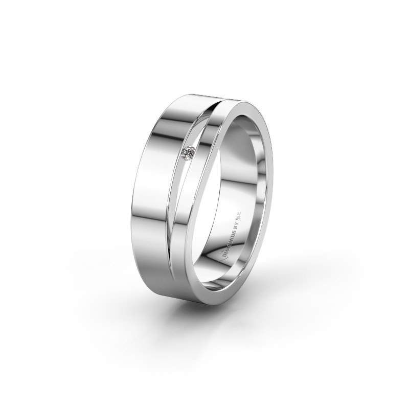 Ehering WH6000L16AP 925 Silber Lab-grown Diamant ±6x1.7 mm