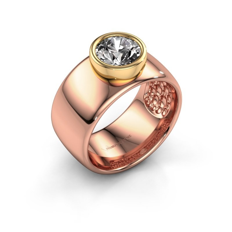 Ring Klarinda 585 rose gold zirconia 7 mm