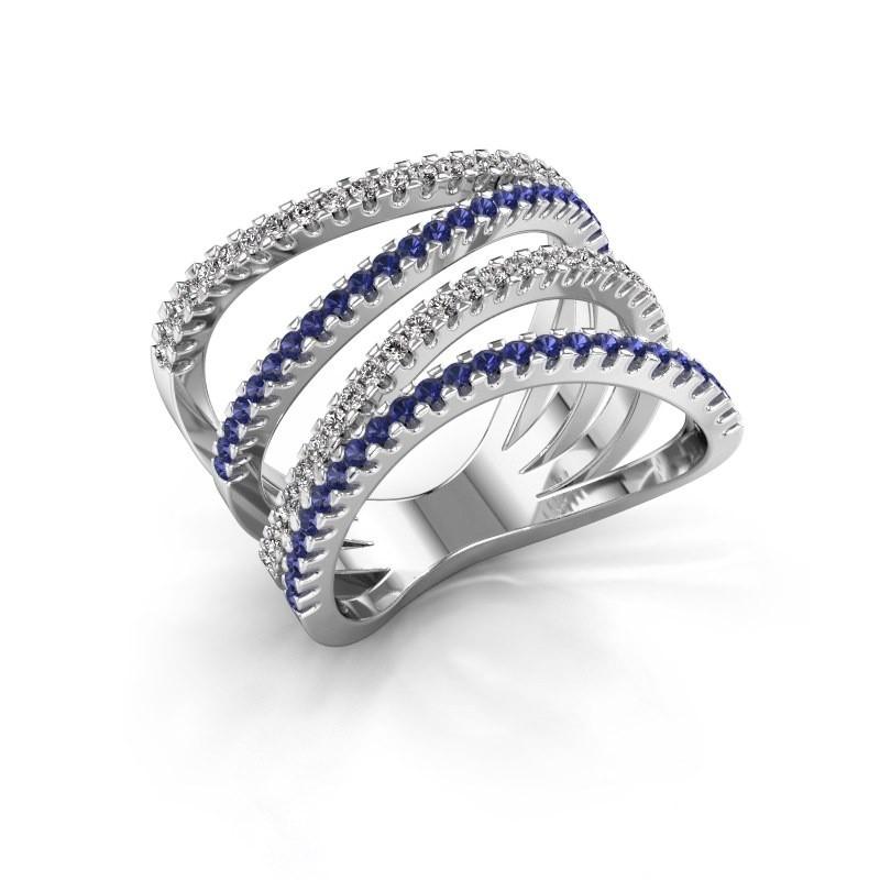 Ring Mitzi 925 zilver saffier 1.2 mm