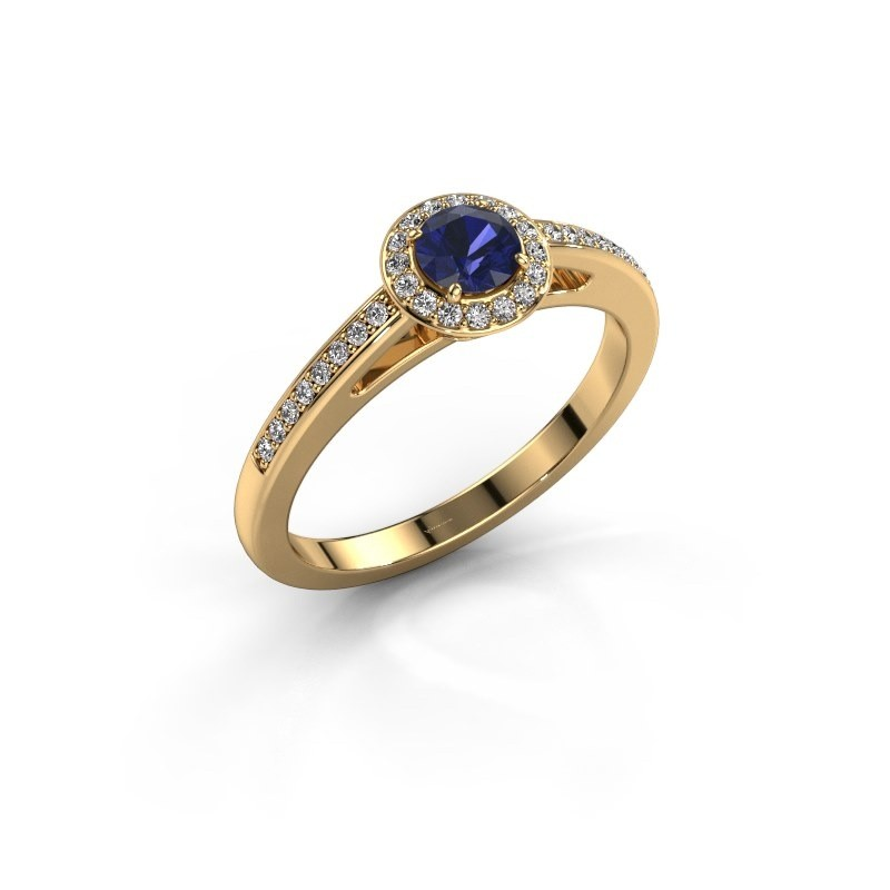 Engagement ring Aaf 375 gold sapphire 4.2 mm