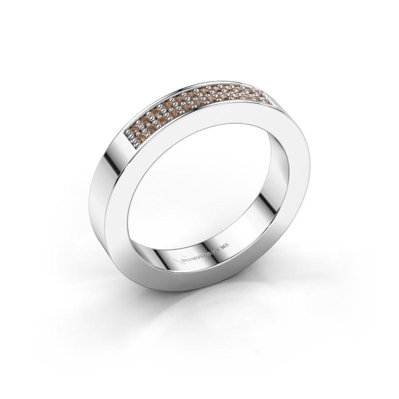 Aanschuifring Catharina 1 925 zilver bruine diamant 0.16 crt