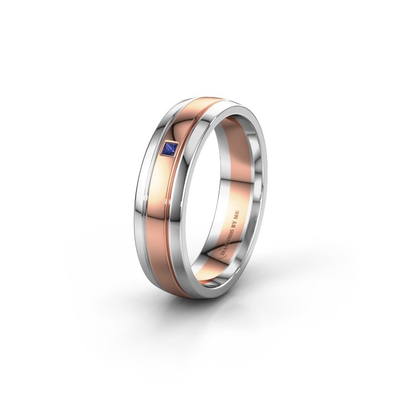 Wedding ring WH0422L25X 585 rose gold sapphire ±0.20x0.06 in