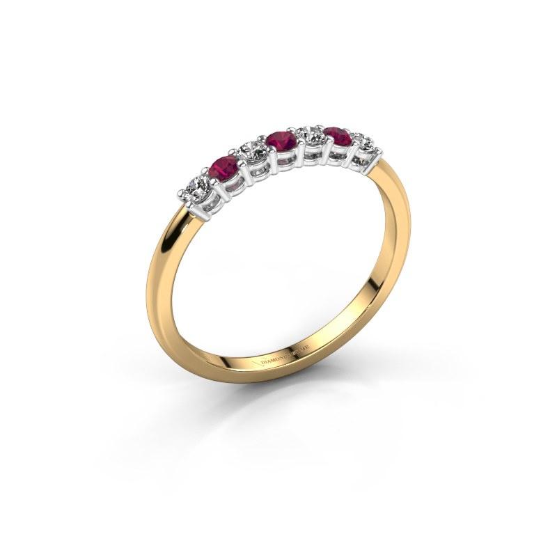 Engagement ring Michelle 7 585 gold rhodolite 2 mm