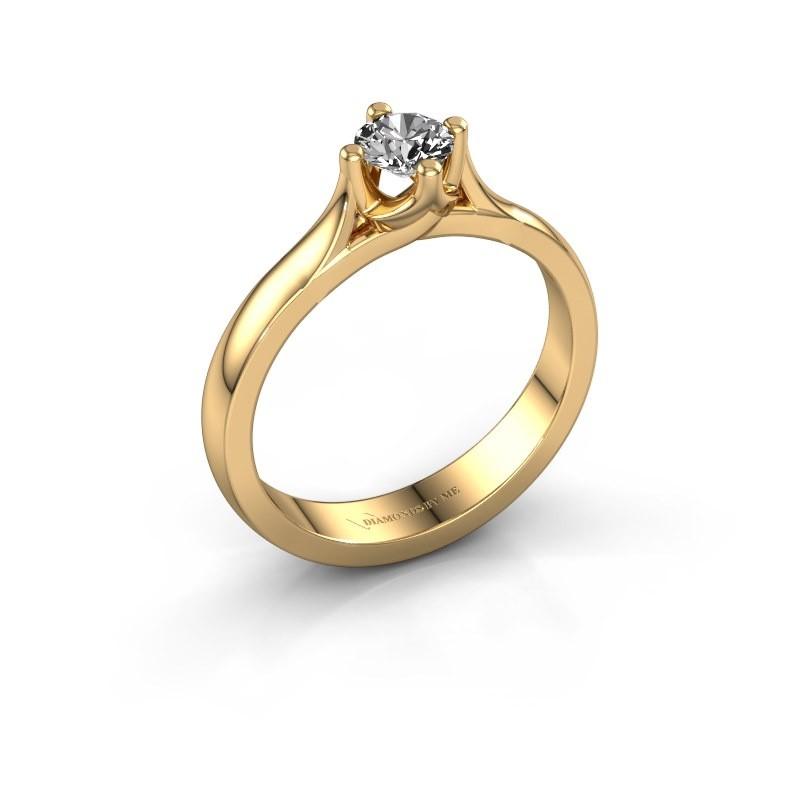 Verlovingsring Eva 585 goud diamant 0.30 crt