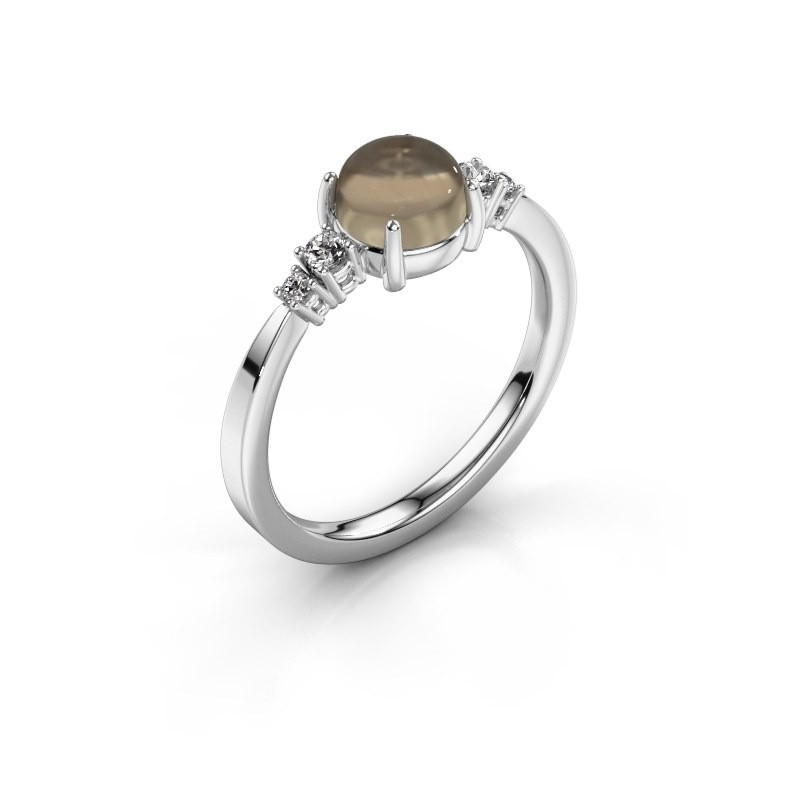 Ring Regine 950 platinum smokey quartz 6 mm