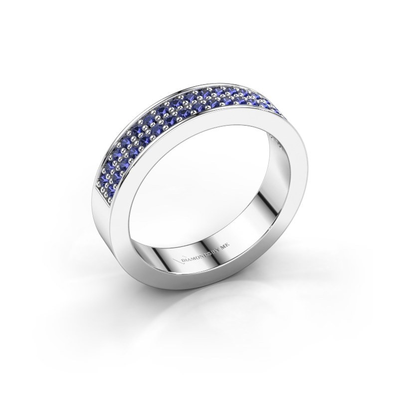 Stackable ring Catharina 4 925 silver sapphire 1.3 mm
