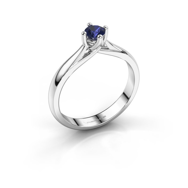 Engagement ring Janne 585 white gold sapphire 4.2 mm
