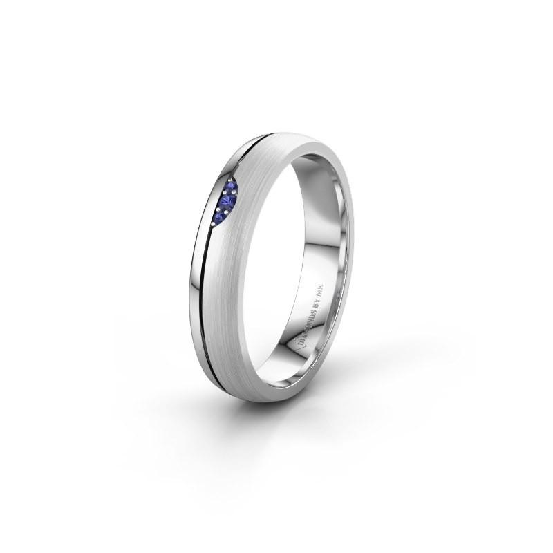 Wedding ring WH0334L24X 925 silver sapphire ±4x1.5 mm