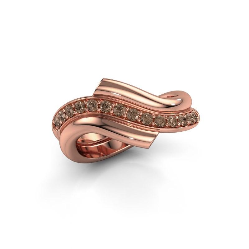Ring Guusje 585 rose gold brown diamond 0.35 crt