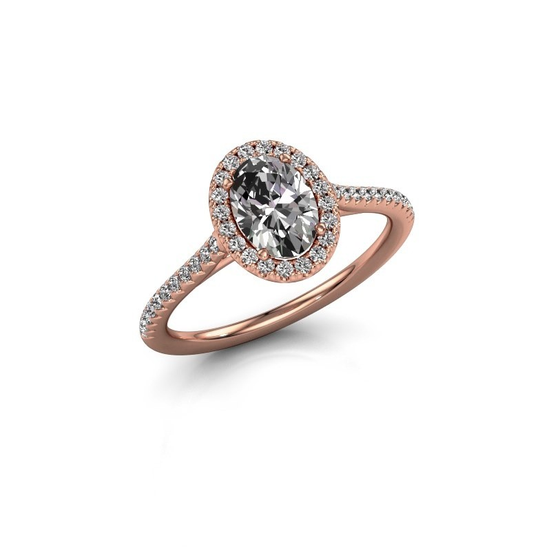 Engagement ring Seline 2 585 rose gold diamond 1.081 crt