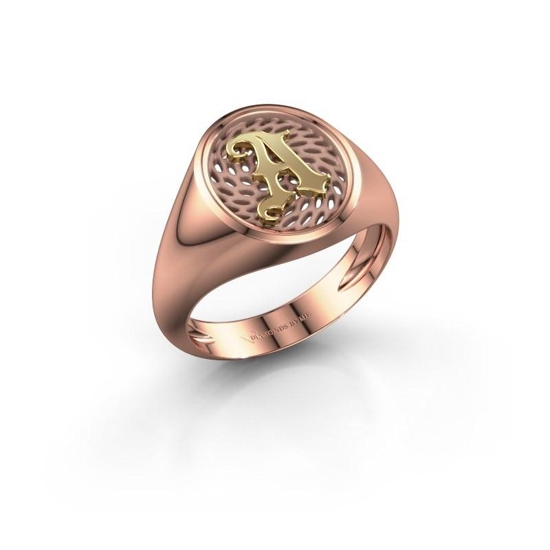 Heren ring Alexander 585 rosé goud