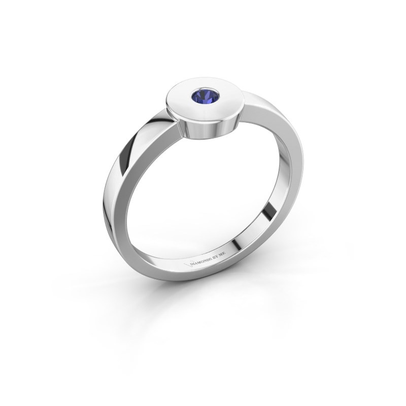 Ring Elisa 585 Weißgold Saphir 3 mm