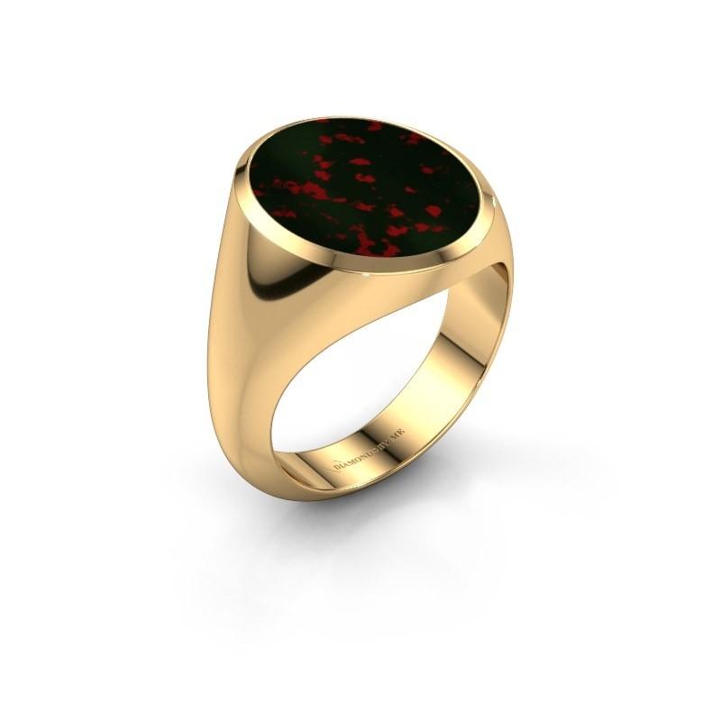 Signet ring Herman 6 585 gold bloodstone 16x13 mm