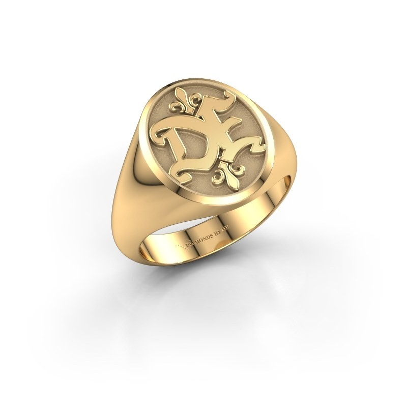 Monogram ring Xandro 585 goud