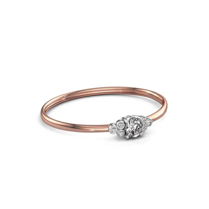 Slavenarmband Lucy 585 rosé goud diamant 1.27 crt