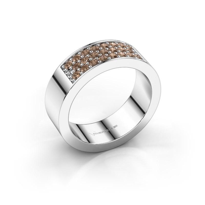 Ring Lindsey 5 585 witgoud bruine diamant 0.46 crt