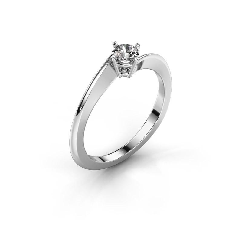 dee3ed149 Engagement ring Ingrid 585 white gold zirconia 4 mm