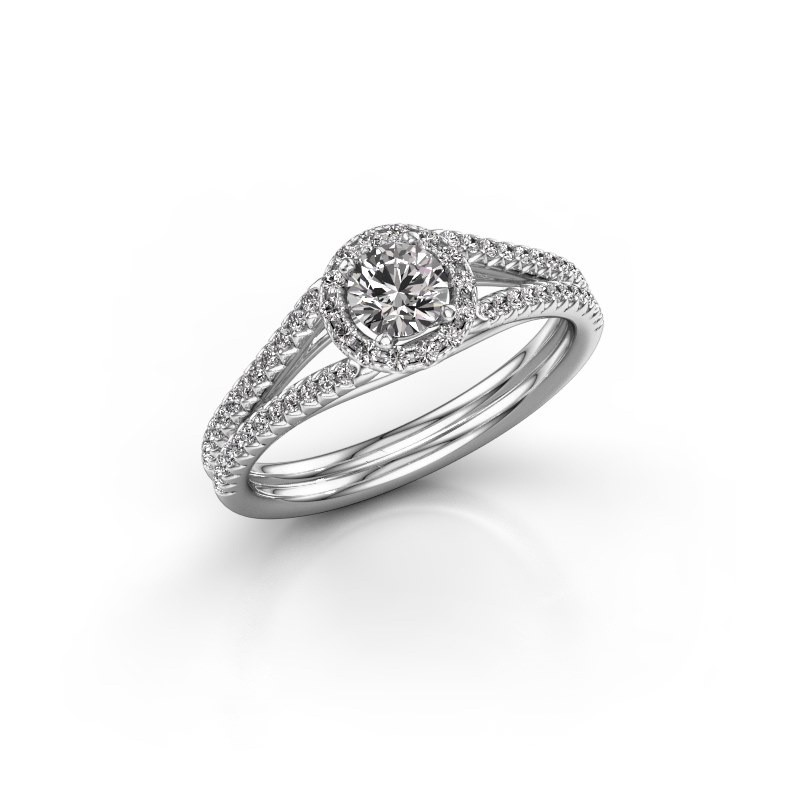 Engagement ring Verla 2 950 platinum diamond 0.634 crt