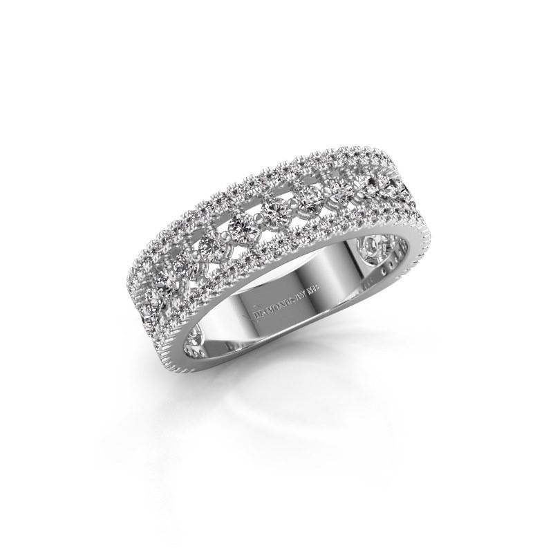 Bague de fiançailles Elizbeth 1 925 argent diamant 0.84 crt