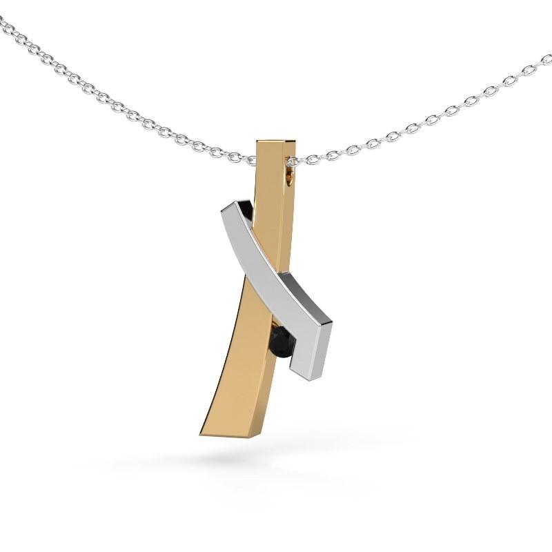 Hanger Alyssa 585 goud zwarte diamant 0.096 crt