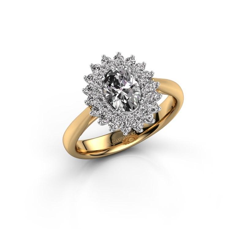 Bague de fiançailles Alina 1 585 or jaune diamant 0.80 crt