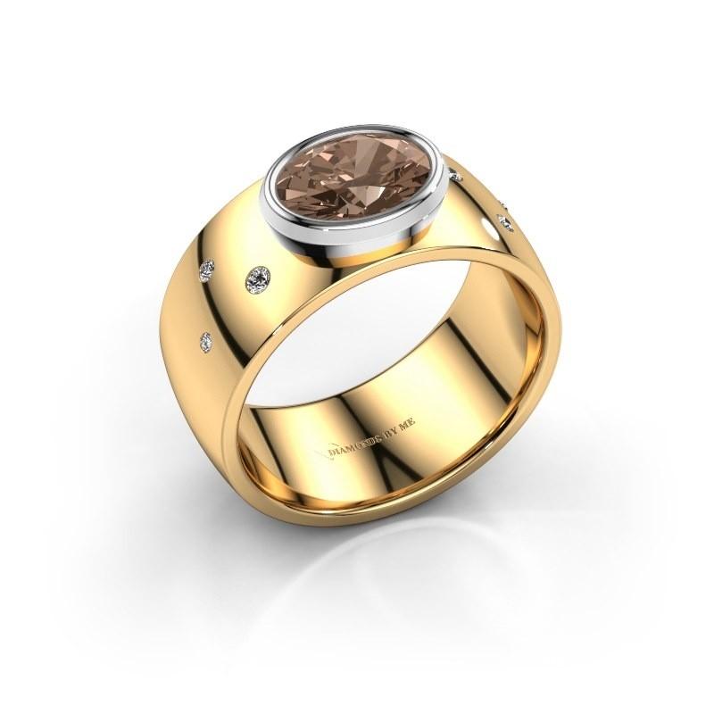 Ring Wilma 2 585 goud bruine diamant 1.15 crt