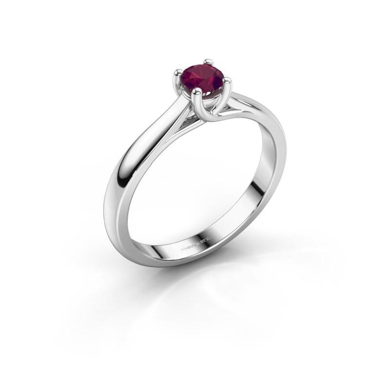 Engagement ring Mia 1 585 white gold rhodolite 4 mm