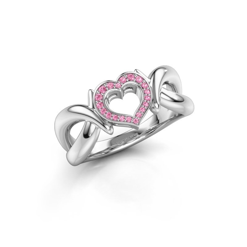 Ring Earlie 1 925 silver pink sapphire 1.1 mm