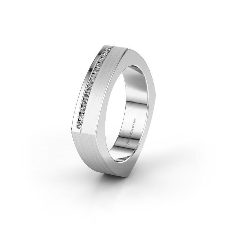 Huwelijksring WH2005L 585 witgoud diamant ±5x2 mm