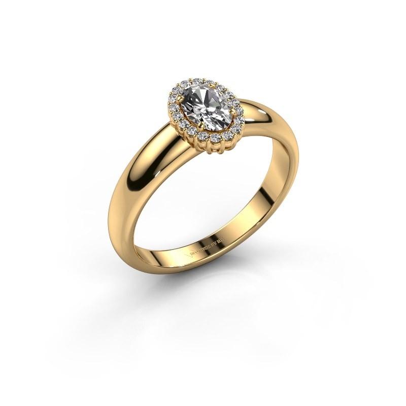 Verlovingsring Tamie 750 goud zirkonia 6x4 mm