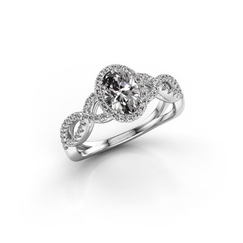 Verlovingsring Dionne ovl 950 platina lab-grown diamant 1.13 crt