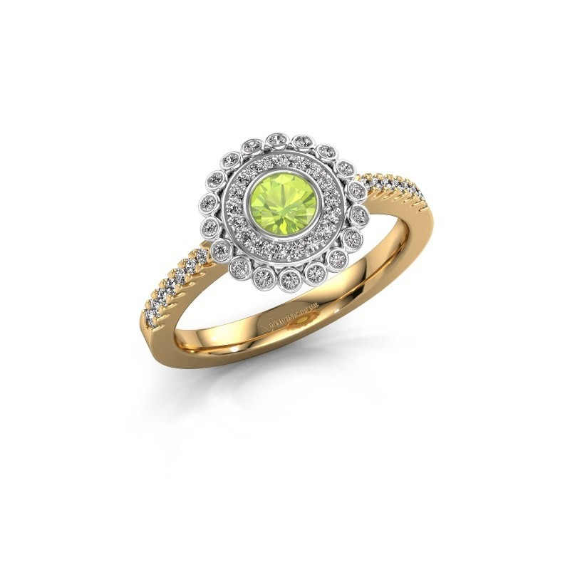 Engagement ring Shanelle 585 gold peridot 4 mm