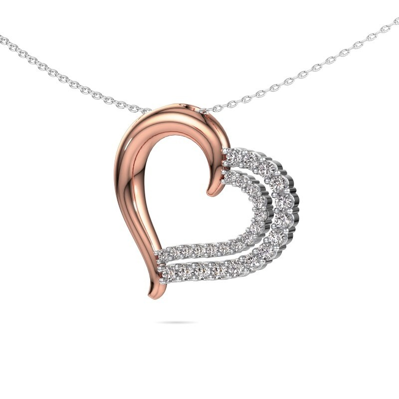 Necklace Kandace 585 rose gold lab-grown diamond 0.56 crt