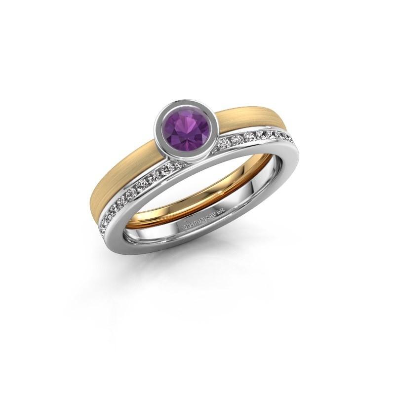 Ring Cara 585 gold amethyst 4 mm