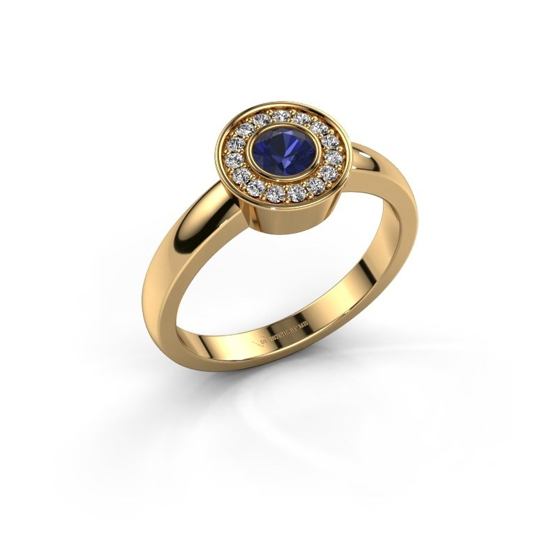 Ring Adriana 1 585 goud saffier 4 mm