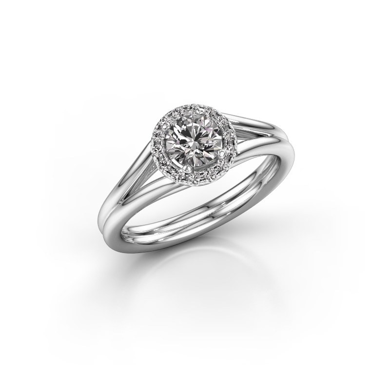 Engagement ring Verla rnd 1 950 platinum diamond 0.605 crt