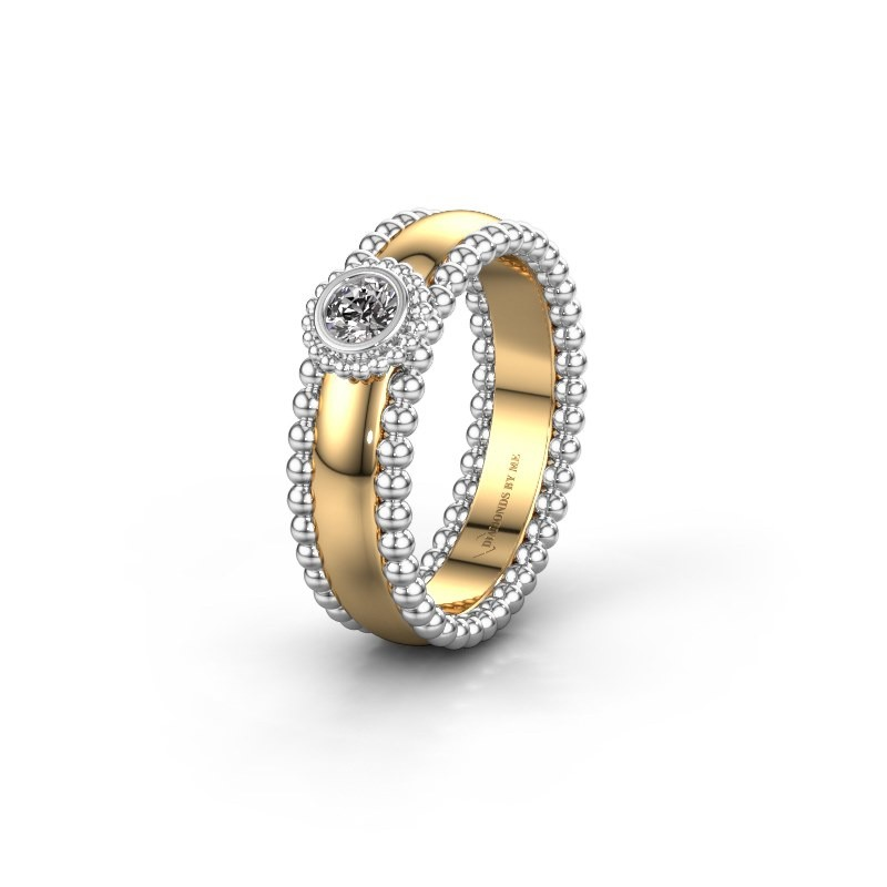 Trouwring WH3053L16A 585 goud diamant ±6x1.7 mm