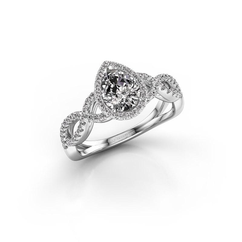 Verlovingsring Dionne pear 925 zilver lab-grown diamant 0.99 crt