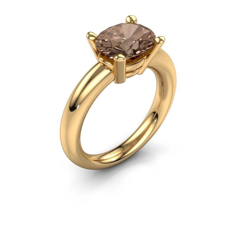 Ring Janiece 585 gold brown diamond 2.70 crt