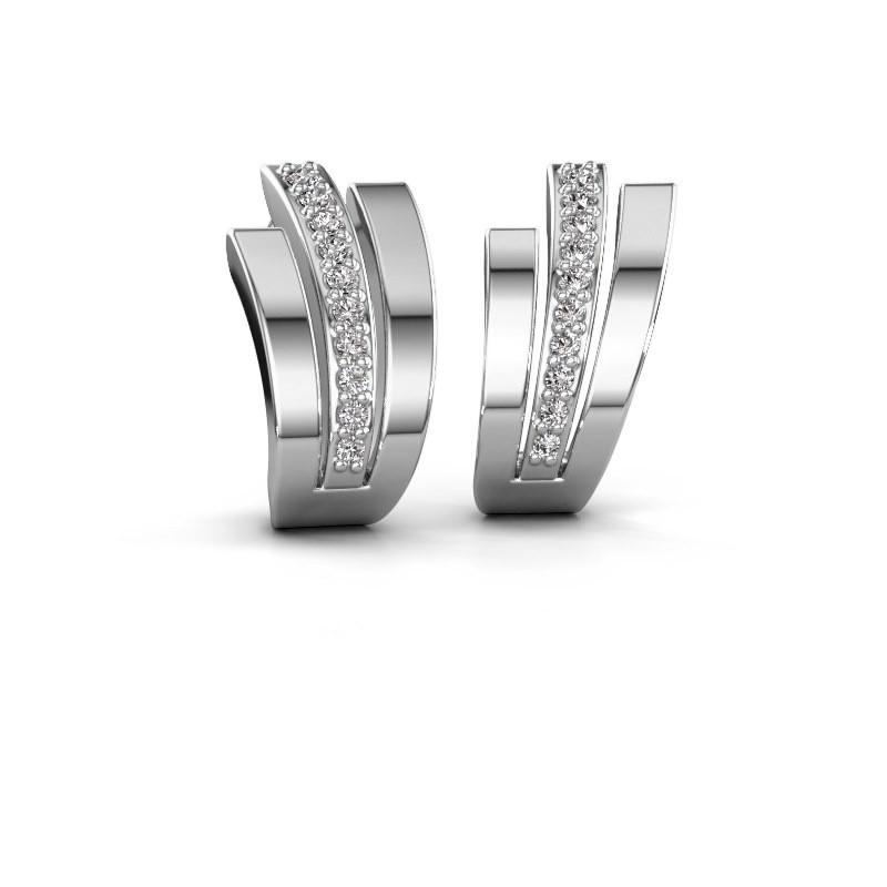 Oorbellen Emeline 925 zilver zirkonia 1.1 mm