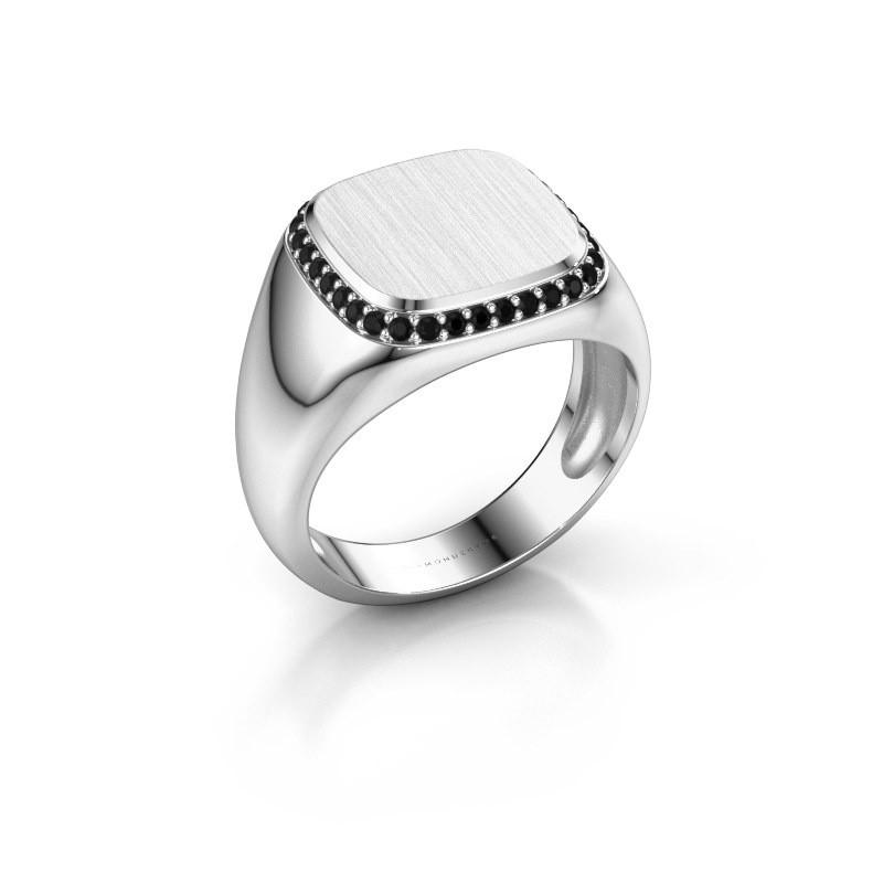Heren ring Jesse 1 375 witgoud zwarte diamant 0.306 crt