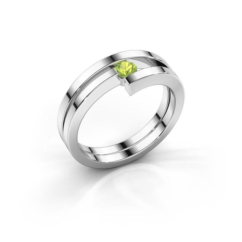 Ring Nikia 950 platina peridoot 3.4 mm