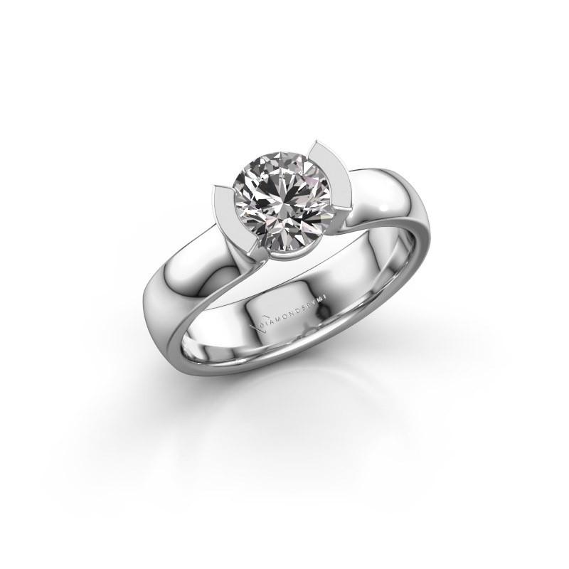 Verlovingsring Ophelia 585 witgoud diamant 1.00 crt