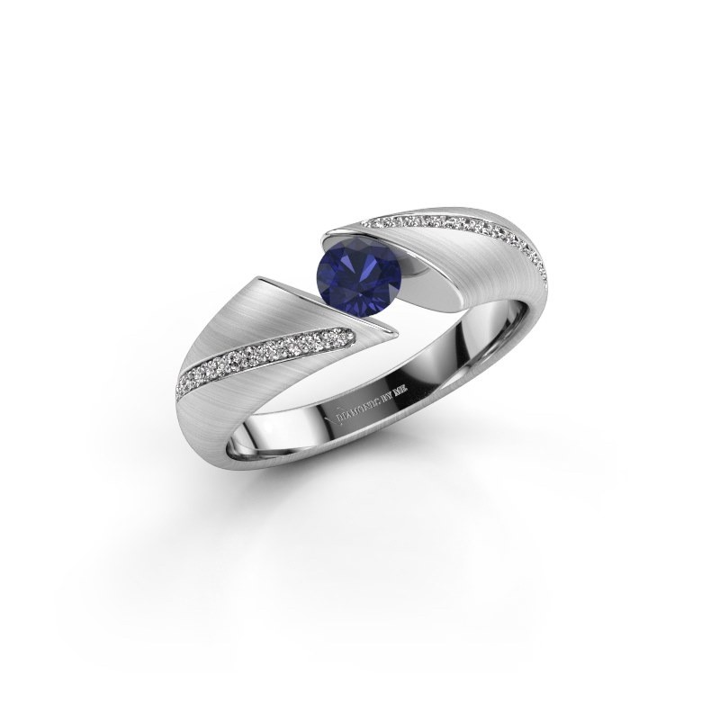 Engagement ring Hojalien 2 925 silver sapphire 4.2 mm