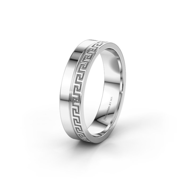 Wedding ring WH0252M24X 585 white gold ±0.20x0.06 in