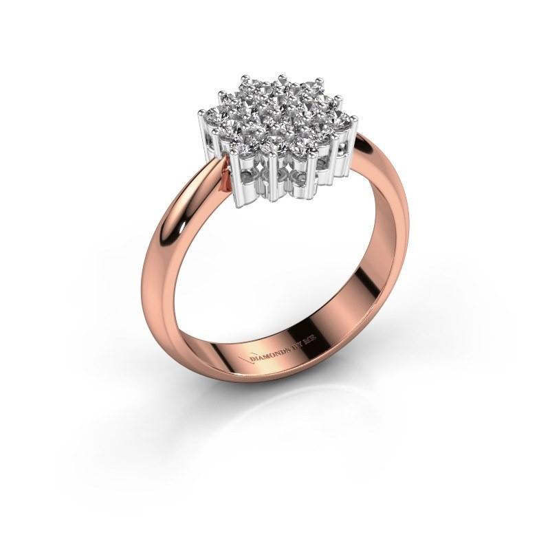 Ring Bente 585 rosé goud zirkonia 1.9 mm