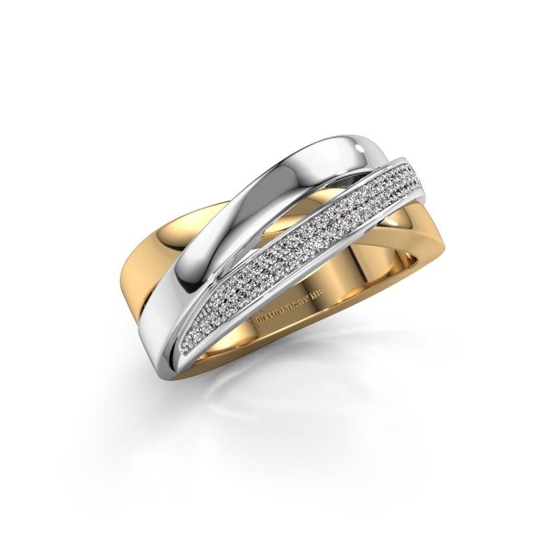 Ring Katherina 585 goud diamant 0.255 crt